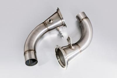 Mikes Custom Приемные трубы (Downpipes) Porsche 911 (992) Turbo, без катализатора Фото